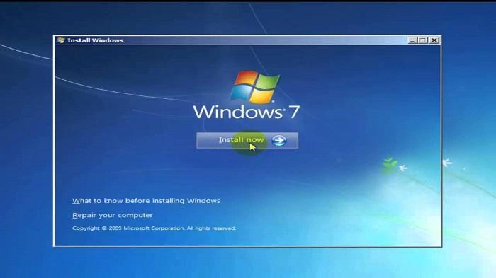 Cài đặt win laptop Dell bằng USB hoặc ổ cứng Boot